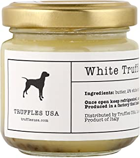 TRUFFLES USA White Truffle Butter 2.82 oz - Italian Truffle Butter from Fresh Italian Truffles, Imported from Italy from Authentic Family Owned Truffle Farms