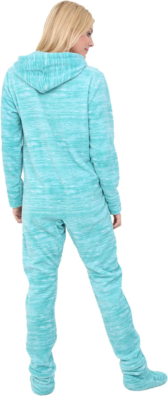 Adult Onesie with Hood Alexander Del Rossa Womens Warm Fleece One Piece Footed Pajamas