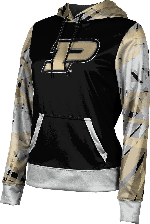 ProSphere Purdue University Girls' Pullover Hoodie, School Spirit Sweatshirt (Crisscross) F9B02 Black and Light Gray