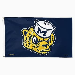 NCAA College Vault Michigan Wolverines Flag Deluxe, 3 x 5-Foot