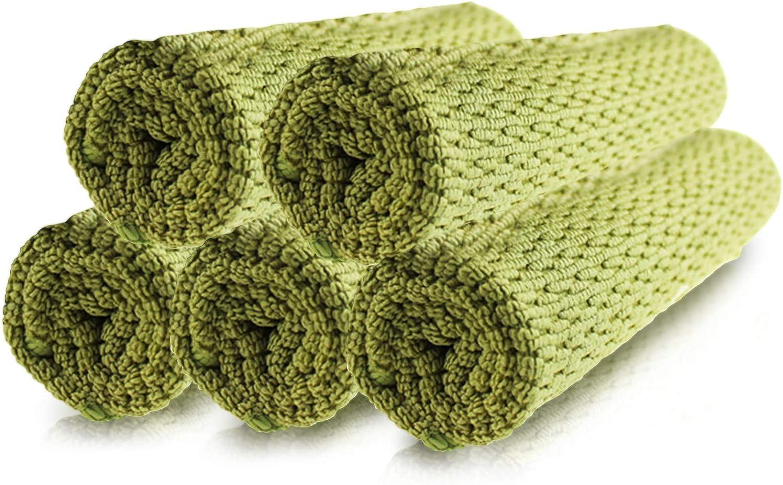 Ousuga Lot de 5 torchons de cuisine en microfibre multi-usages pour nettoyage de sols de verre torchons de cuisine 40 x 40 cm de sols
