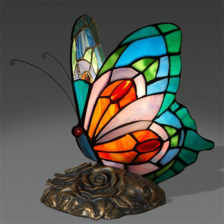 Xiuxiu Retro LED Schmetterling Styling Tischlampe Schlafzimmer Nachttischlampe Warm Kreative Romantische Tischlampe B07JGX1CYM   Elegant