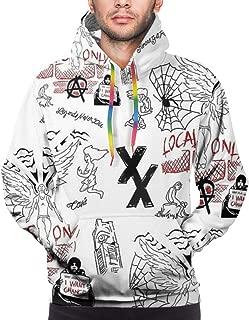 Men's 3D Printed Pullover Hoodies MGK-T-XX Long Sleeve Pocket Drawstring Hooded Sweatshirt