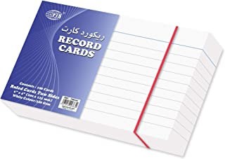 FIS Ruled Record Card White 240 gsm, 6 x 4 inch - FSIC64, Pack of 100 pieces