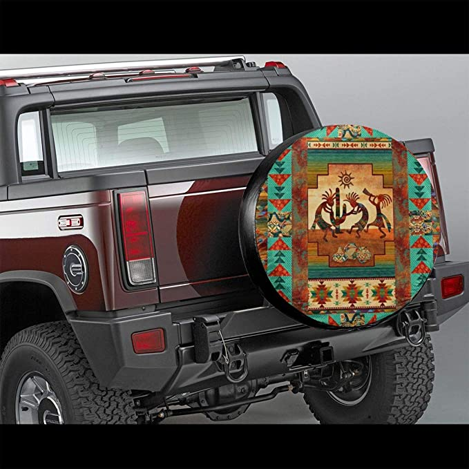 Enoqunt Tire Covers South Africa Universal Spare Wheel Tire Cover Fit for Trailer,RV,SUV and Many Vehicle