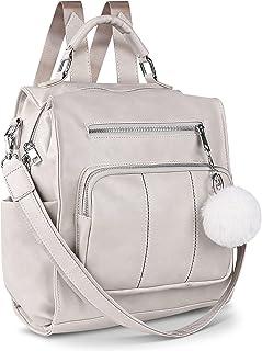 حقيبة ظهر للنساء، حقيبة ظهر عصرية من الجلد للسفر بتصميم متعدد الأغراض