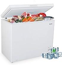 MOOSOO Chest Freezer, 9.0 Cu Ft Large Freezer with Adjustable Thermostat & Movable Storage Basket, Energy Saving & Low Noi...