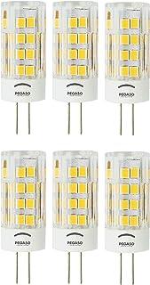 Pegaso - Juego de 6bombillas LED Bispina - Casquillo G4 - CA 220 / 240V - Luz fría 6000K