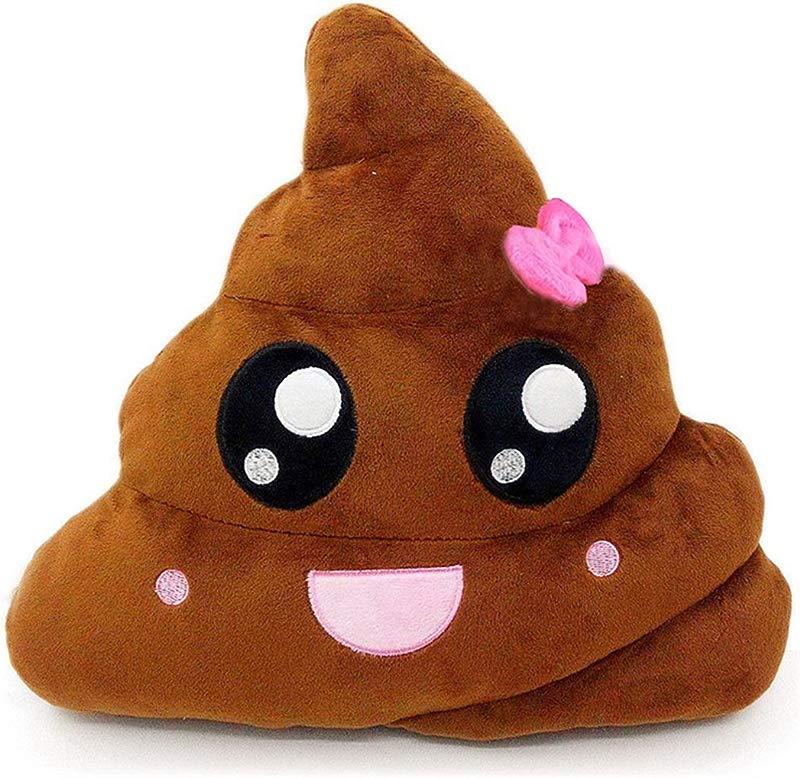 Spiritup Poop Emoji Emoticon Cushion Pillow Cute Decorative Stuffed Plush Toy Doll Gift For Kids Brown Pink