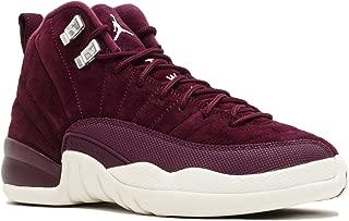 Jordan Nike Air 12 Retro Bordeaux G.S Youth Big Kids Bordeaux/Metallic Silver/Sail 153265-617 (6)