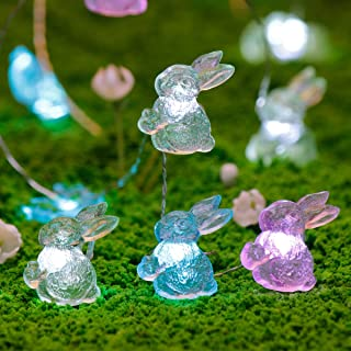 Easter Decoration Lights, Impress Life Rabbit Bunny Festive String Lights Battery & USB Cord Dual Power with Remote Multi-Function for Indoor Outdoor Home Party Wedding Camping, Birthday Bedroom House