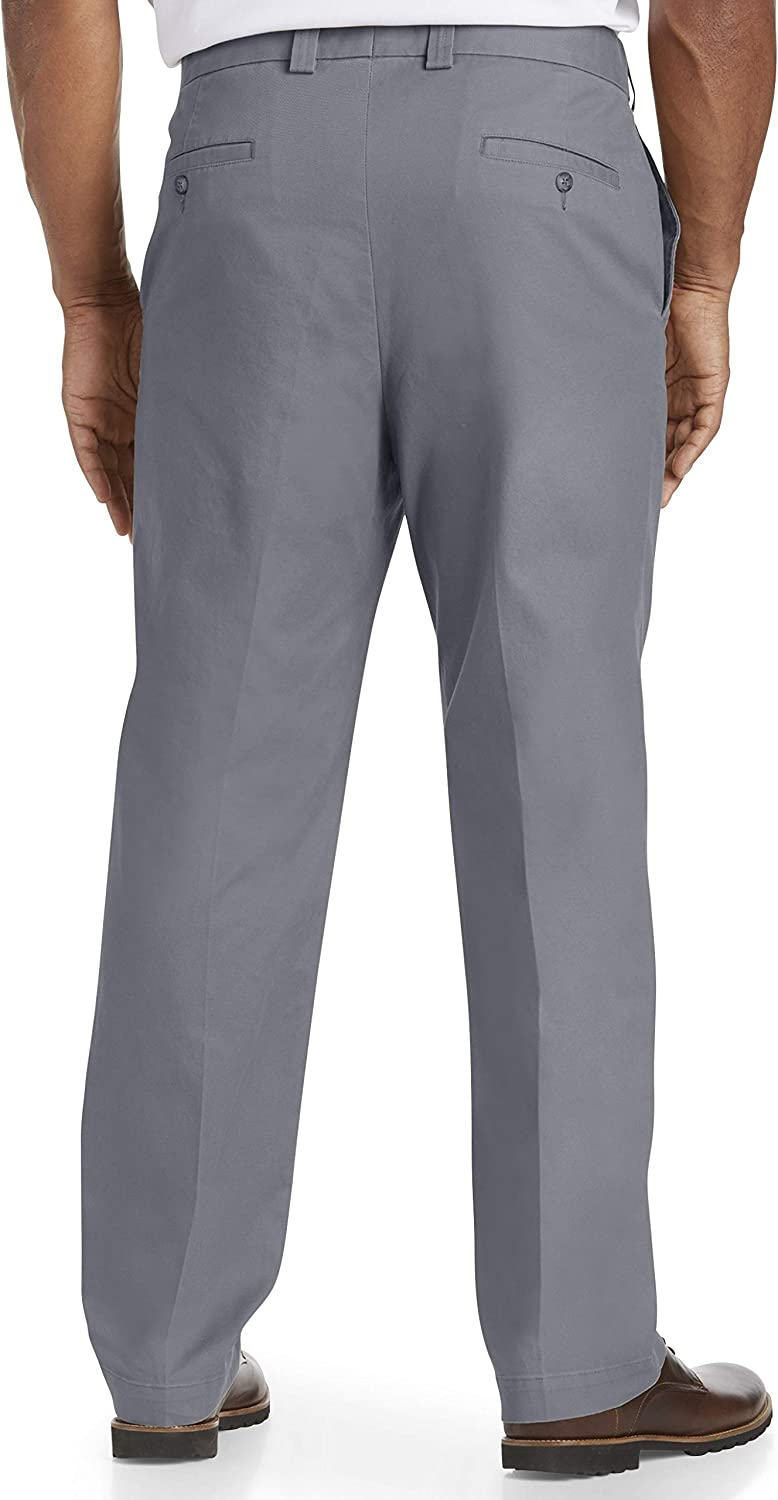 Oak Hill by DXL Big and Tall Straight-Fit Waist-Relaxer Stretch Twill Pants
