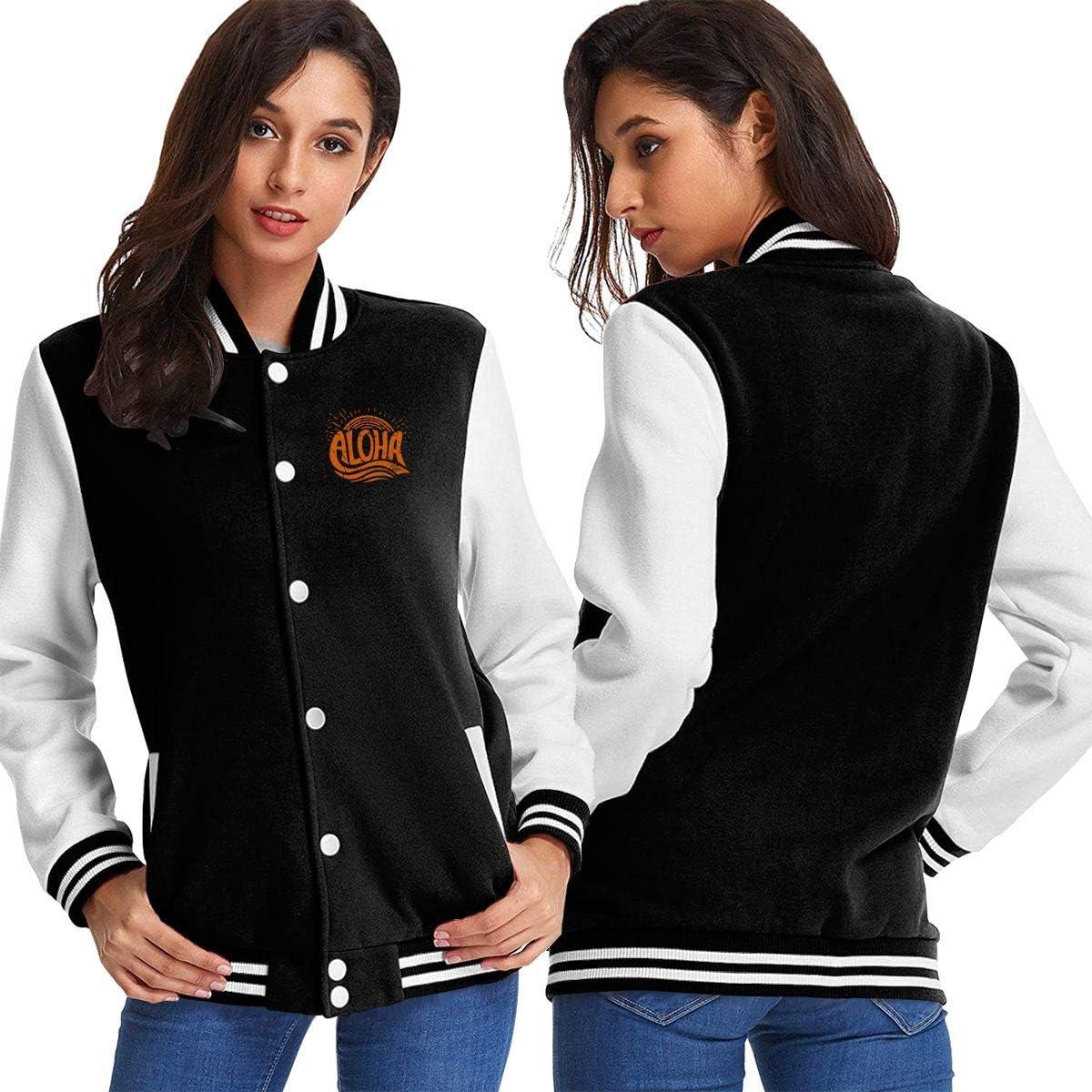 Aloha Super intense SALE Womens Baseball Uniform Coat Ranking TOP9 Sweatshirt Sport