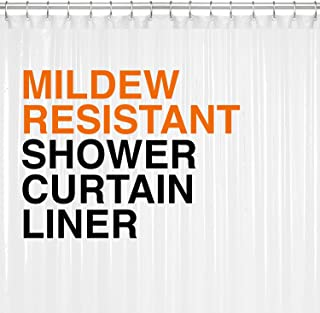 Mildew Resistant PEVA Shower Curtain Liner 72×72 Clear 10G Thickness, Mildew..