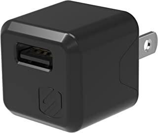 SCOSCHE USBH121M SuperCube Single USB Port Wall Charger for USB Devices, Black