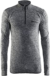 Craft Mens Active Comfort Long Sleeve Lightweight Base Layer Zip Shirt