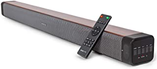 """Deco Home 60W 2.0 Channel Audio Soundbar with Built-in Dual Subwoofers and Four 2.5"""" Drivers,..."""