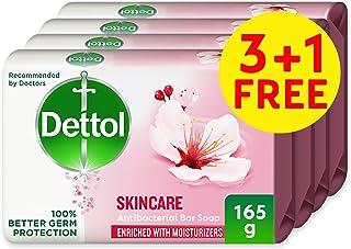Dettol Skincare Anti-bacterial Bar Soap 165g 3+1 Free- Rose & Blossom