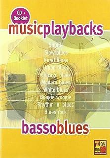 Music Playbacks Cd Basso Blues Bass Guitar Booklet/Cd Italian