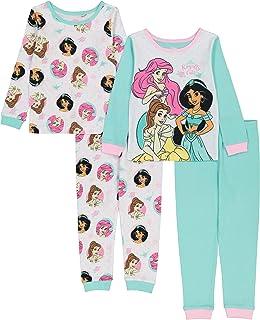 Disney Girls' Princess Snug Fit Cotton Pajamas