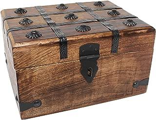 Nautical Cove Wooden Treasure Chest Keepsake Box (Large)
