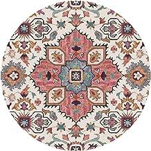 Vintage Flowers Rustic Round Rugs Bohemian Carpet Floor Mat Large for Living Room Bedroom Sofa Hallway, 150cm Diameter