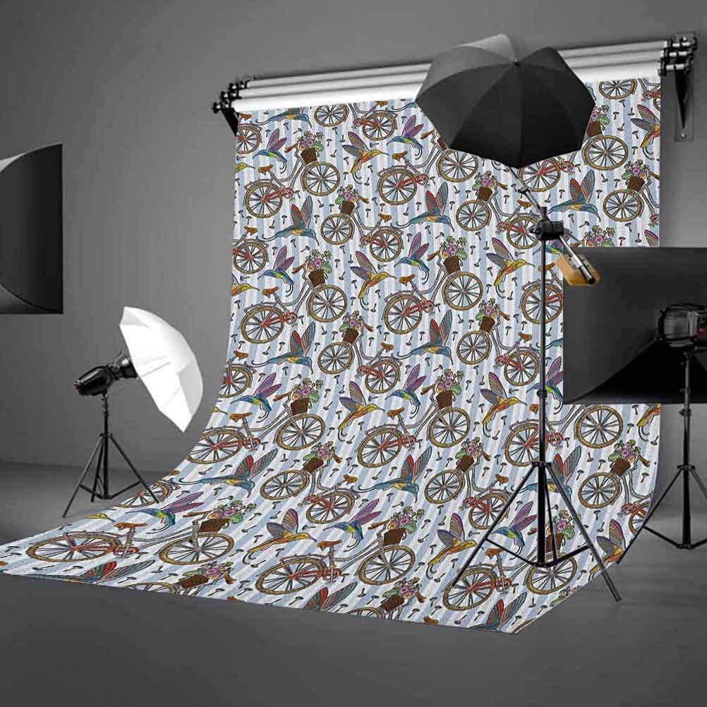 8x12 FT Landscape Vinyl Photography Background Backdrops,Hills Under Fairy Cloudy Sky with The Reflection of Moon Vivid Landscape Print Background for Selfie Birthday Party Pictures Photo Booth Shoot