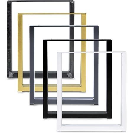 Magnetic Mobel Table Châssis Design Industriel Plateau pour Table Design (40x42, d'or)