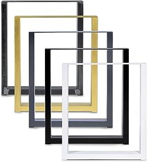 Magnetic Mobel Set de 2 Table Châssis Design Industriel Plateau pour Table rétro métal Acier Table à Manger (Noir, 90x72)