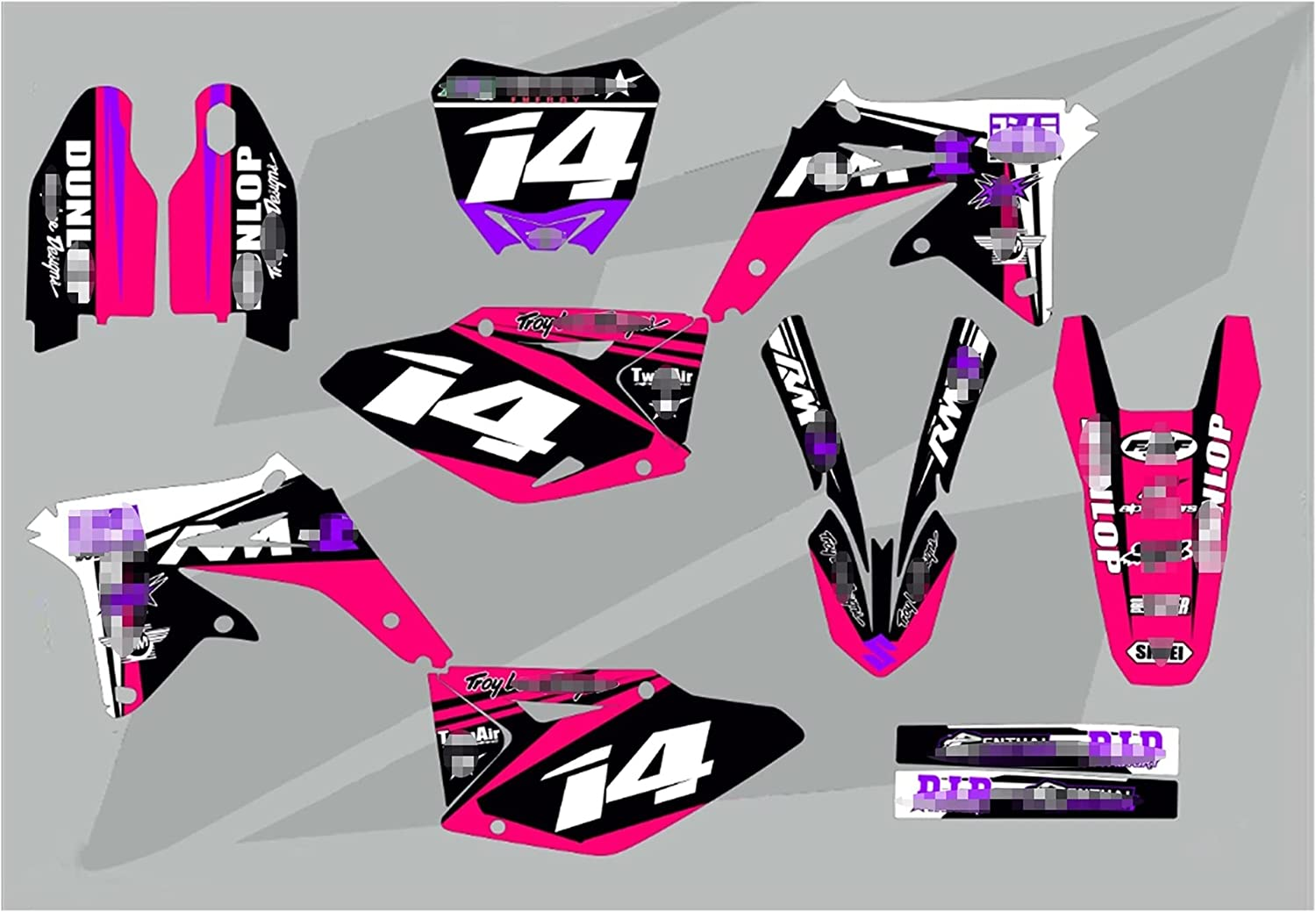 YHYPRESTER XYTZ64-5 Customized Louisville-Jefferson specialty shop County Mall 3M Gra Decals Stickers Motorcycle