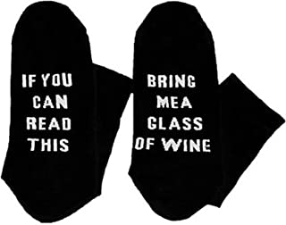 Unisex Cotton Socks IF YOU CAN READ THIS BRING ME A GLASS OF WINE Labor Day Socks