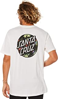 Santa Cruz Men's Dot Splatter Mens Tee Crew Neck Short Sleeve Cotton Black