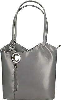Chicca Borse Bag Borsa a Spalla in Pelle Made in Italy 28x30x9 cm