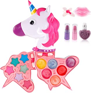 Liberty Imports Petite Girls Cosmetics Play Set | Washable & Non Toxic | Princess Real Makeup Kit with Case | Ideal Gift f...