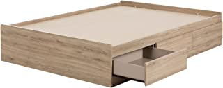 South Shore 11876 Fakto Mates Bed with Storage Drawers Full Rustic Oak