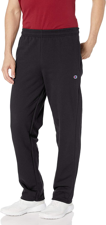 Champion Men's Powerblend Open Bottom Sweatpants at  Men's Clothing store