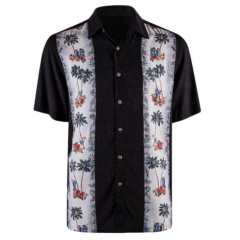 Campia Modern Design Short Sleeve Mens Shirts - Regular Sizes and Big and Tall