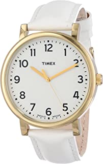 Timex Unisex T2P170AB Originals Classic Round White Leather Strap Watch