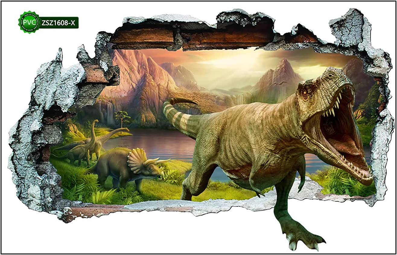 Novania 3D Dinosaur Luxury Wall Stickers Discount mail order Decor Removable Mural Art DIY