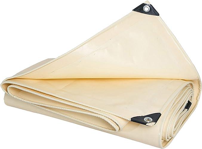 DONGYUER De Plein air épaissir Tente Imperméable Bache Imperméable Crème Solaire Bache PVC Tissu imperméable Ombre Raclage de Couteau Hangar Tissu en Plastique,5  6m
