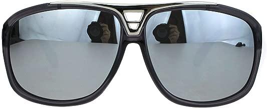 Mens Polarized Mobster Racer Half Rim Flat Top Mafia Sunglasses