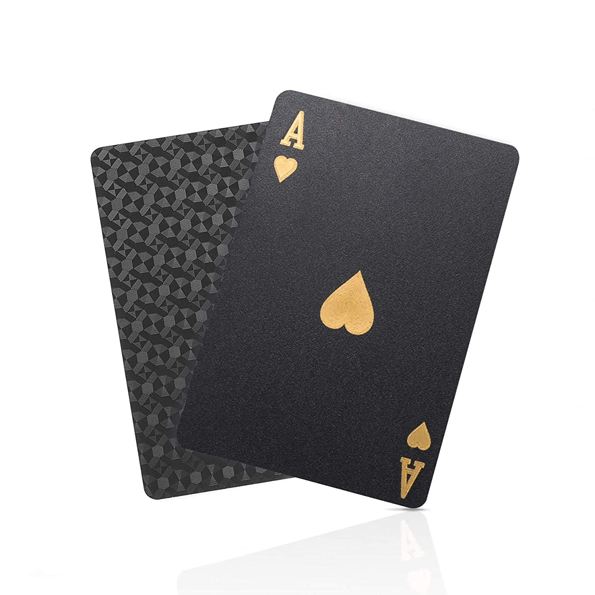 SolarMatrix Black Diamond Plastic Waterproof Playing Cards Novelty(HD, 1 Deck of Cards, Poker Cards Deck