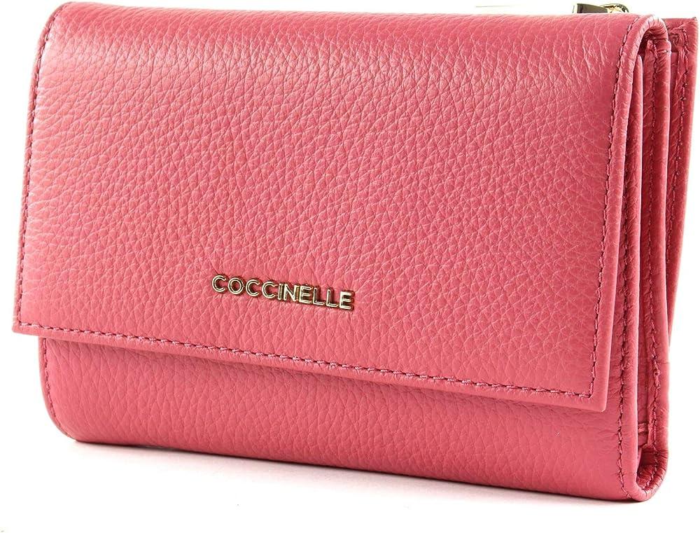 Coccinelle flap wallet portafoglio porta carte di credito da donna in pelle E2 FW5 11 66 01 P39