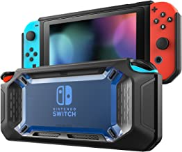 MoKo Case for Nintendo Switch, Heavy Duty Protective Slim Hard Cover Switch Shell, Shock-Absorption and Anti-Scratch for Nintendo Switch Console & Joy Con Controllers 2017 – Blue & Black