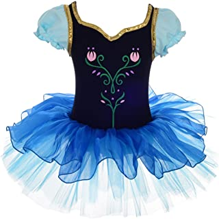 Dressy Daisy Girls Princess Anna Tulip Embroidery Ballet Tutus Dancewear Costume