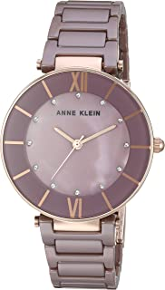 Anne Klein Women's AK/3266 Swarovski Crystal Accented Ceramic Bracelet Watch