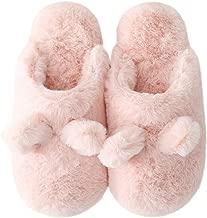 Slippers for Women, Fluffy Slip On House Memory Foam Teen Girls Cute Animal Slippers, Soft Indoor Outdoor Home Slippers for Winter