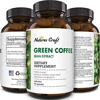 Amazon Com Natural Raw Green Coffee Bean Extract Extra Strength Pure Premium Antioxidant Beans 800 Mg Max Fat Burner Supplement Super Cleanse Pills For Weight Loss Benefits Reviews Health Personal Care