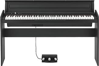 KORG 電子ピアノ LP-180-BK 88鍵 ブラック ペダル、譜面立て付属 アコースティック・ピアノタッチを再現したNH鍵盤