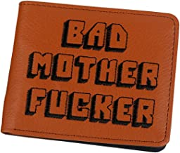 IW Cartera Billetera Monedero Pulp Fiction Bad Mother Fucker Bordada Polipiel